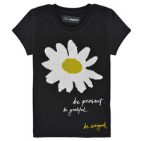Kleidung Mädchen T-Shirts Desigual 21SGTK28-2000 Schwarz