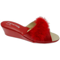 Schuhe Damen Pantoffel Milly MILLY102ros rosso