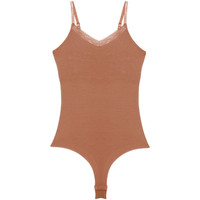 Unterwäsche Damen Bodys Underprotection BB1019 BEA BODY TAN Beige