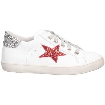 Schuhe Mädchen Sneaker Low Dianetti Made In Italy I9869 Sneaker Kind Weißsilber Weißsilber