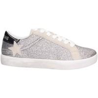Schuhe Mädchen Sneaker Low Shop Art SA040024 Sneaker Kind SILBER WEISS SILBER WEISS