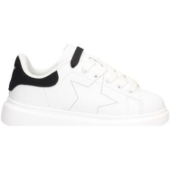 Schuhe Mädchen Sneaker Low Shop Art SA040003 Sneaker Kind WEISS SCHWARZ WEISS SCHWARZ