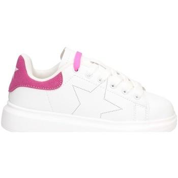 Schuhe Mädchen Sneaker Low Shop Art SA040003 Sneaker Kind WEISS / FUCHSIA WEISS / FUCHSIA