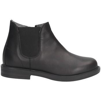 Schuhe Mädchen Low Boots Dianetti Made In Italy I3079 Beatles Kind SCHWARZ SCHWARZ