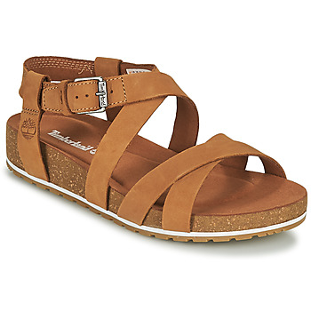 Schuhe Damen Sandalen / Sandaletten Timberland MALIBU WAVES ANKLE Cognac