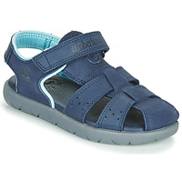 Schuhe Kinder Sandalen / Sandaletten Timberland NUBBLE LEATHER FISHERMAN Blau