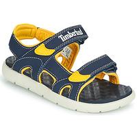 Schuhe Kinder Sandalen / Sandaletten Timberland PERKINS ROW 2-STRAP Blau / Gelb