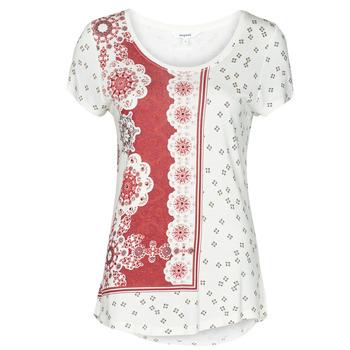 Kleidung Damen T-Shirts Desigual ESTAMBUL Weiss