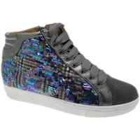 Schuhe Damen Sneaker High Calzaturificio Loren LOC3921gr grigio