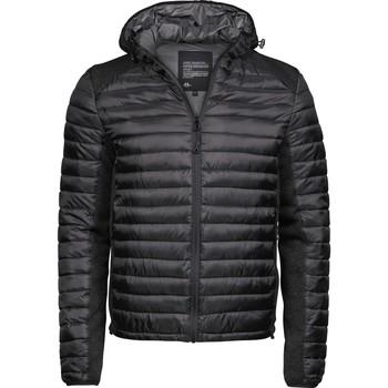 Kleidung Herren Daunenjacken Tee Jays T9610 Schwarz/Schwarz meliert