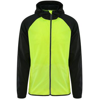 Kleidung Herren Windjacken Awdis JC062 Gelb/Schwarz
