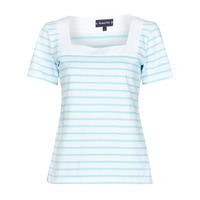Kleidung Damen T-Shirts Armor Lux MARINIERE ENCOLURE CARREE Weiss