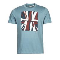 Kleidung Herren T-Shirts Ben Sherman HALF TONE FLEG TEE Blau