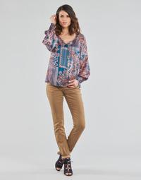 Kleidung Damen 5-Pocket-Hosen Cream LOTTE PRINTED Beige