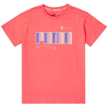 Kleidung Mädchen T-Shirts Puma ALPHA TEE Rose