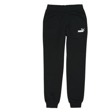 Kleidung Mädchen Jogginghosen Puma ESS SWEATPANT Schwarz