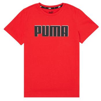 Kleidung Jungen T-Shirts Puma ALPHA GRAF TEE Rot