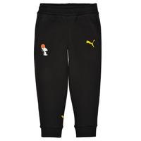 Kleidung Jungen Jogginghosen Puma SNOOPY PEANUTS SWEAT PANT Schwarz