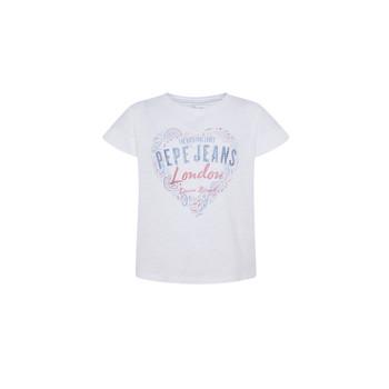 Kleidung Mädchen T-Shirts Pepe jeans PIPER Weiss