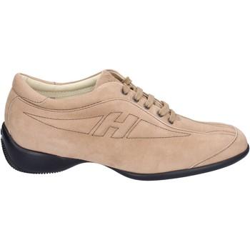 Schuhe Damen Sneaker Hogan Sneakers Wildleder Beige