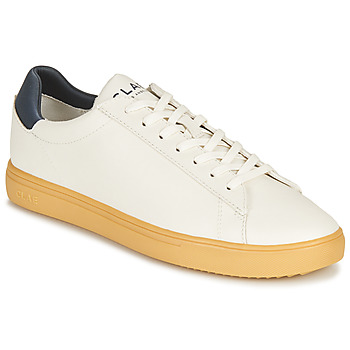 Schuhe Sneaker Low Clae BRADLEY CACTUS Weiss / Blau