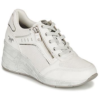 Schuhe Damen Sneaker Low Mustang NULUK Beige