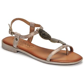 Schuhe Damen Sandalen / Sandaletten Mustang ANITTA Bronze