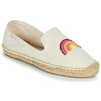 Schuhe Damen Leinen-Pantoletten mit gefloch Banana Moon THAIS MAWERA Beige