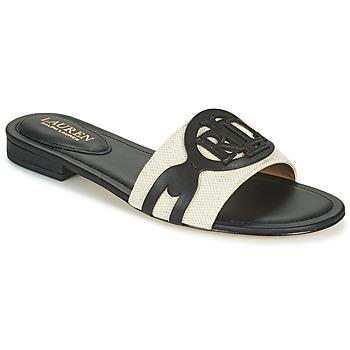 Schuhe Damen Pantoffel Lauren Ralph Lauren ALEGRA Schwarz / Beige