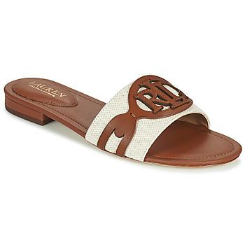 Schuhe Damen Pantoffel Lauren Ralph Lauren ALEGRA Cognac / Beige