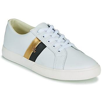 Schuhe Damen Sneaker Low Lauren Ralph Lauren JANSON II Weiss / Gold