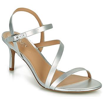 Schuhe Damen Sandalen / Sandaletten Lauren Ralph Lauren LANDYN Silbern