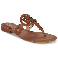 Schuhe Damen Sandalen / Sandaletten Lauren Ralph Lauren AUDRIE Cognac