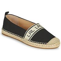Schuhe Damen Leinen-Pantoletten mit gefloch Lauren Ralph Lauren CAYLEE Schwarz