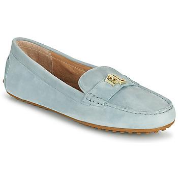 Schuhe Damen Slipper Lauren Ralph Lauren BARNSBURY FLATS CASUAL Blau / Himmelsfarbe