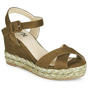 Schuhe Damen Sandalen / Sandaletten Elue par nous JOHAN Grün
