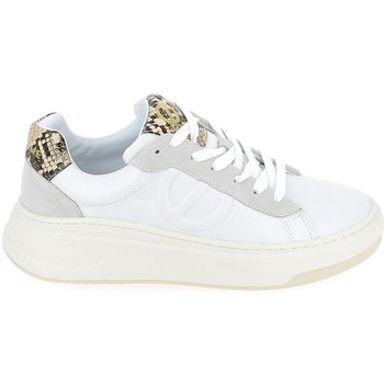 Schuhe Sneaker Low No Name Bridget Trainer Kobra Blanc Weiss