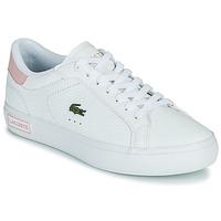 Schuhe Damen Sneaker Low Lacoste POWERCOURT 0721 2 SFA Weiss / Rose