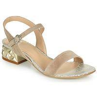Schuhe Damen Sandalen / Sandaletten Perlato 11817-CAM-FREJE-STONE Beige / Gold