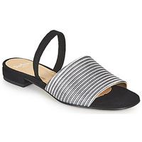 Schuhe Damen Sandalen / Sandaletten Perlato 11117-YORK-ARGENT-CAM-NOIR Schwarz / Silbern