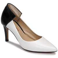 Schuhe Damen Pumps Perlato 11764-VENUS-BLANC-JAMAICA-NOIR Weiss / Schwarz