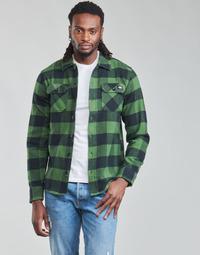 Kleidung Herren Langärmelige Hemden Dickies NEW SACRAMENTO SHIRT PINE GREEN Kaki / Schwarz