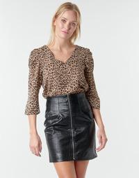 Kleidung Damen Tops / Blusen Moony Mood NOULIETTE Beige / Braun