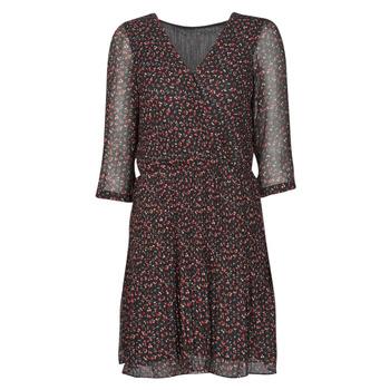 Kleidung Damen Kurze Kleider Moony Mood NOULINE Schwarz / Rot