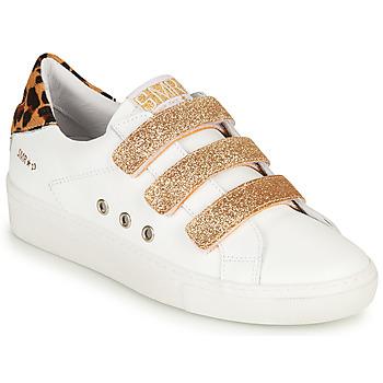 Schuhe Damen Sneaker Low Semerdjian GARBIS Weiss / Gold