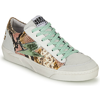 Schuhe Damen Sneaker Low Semerdjian ELISE Weiss / Braun