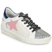 Schuhe Damen Sneaker Low Semerdjian CARLA Silbern / Weiss / Grün