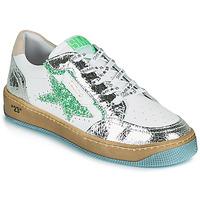 Schuhe Damen Sneaker Low Semerdjian ARTO Weiss / Silbern / Grün