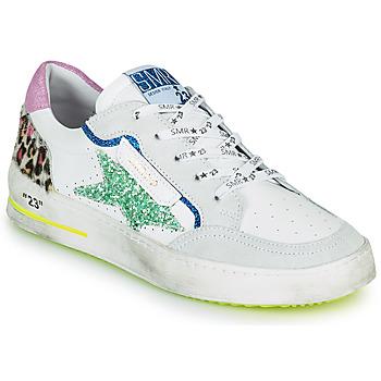 Schuhe Damen Sneaker Low Semerdjian ARTO Weiss / Grau / Blau
