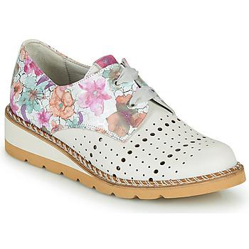 Schuhe Damen Derby-Schuhe Dorking TETRIS Weiss / Multicolor
